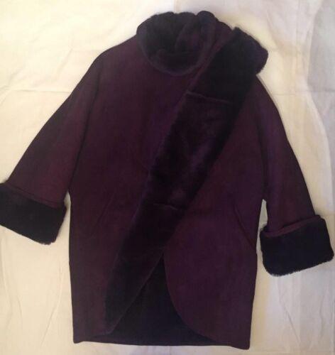 nouer en à Manteau de par peau pourpre col mouton contes de avec amélioré vison 9 8ddBwqn