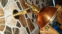 Vintage Marine Brass & Copper Spot Hanging Light