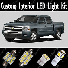 18 x Xenon White LED Lights Interior Package Kit For 1999-2006 Chevy Silverado
