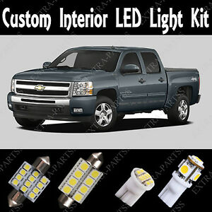 18 X Xenon White Led Lights Interior Package Kit For 1999 2006 Chevy Silverado Ebay