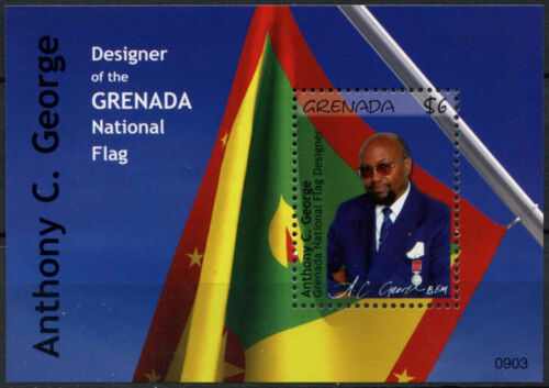 Grenada 2009 Anthony C. George Flag MNH MS #A91799