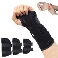 Breathable Wrist Brace Splint Support Carpal Tunnel Arthritis Sprain Strain Left