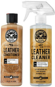 ✅ Chemical Guys Leather Cleaner and Conditioner Complete Leather Care Kit 16 oz