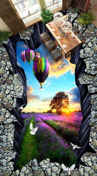 3D Cliff Nice Garden  324 Floor WallPaper Murals Wall Print Decal 5DAJ WALLPAPER