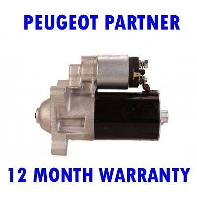 PEUGEOT PARTNER 1.1 1.4 1.6 1996 1997 1998 1999-2015 STARTER MOTOR