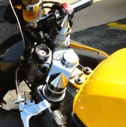 CBR 600 F2 F3 F4 F4I 600RR 1000RR 900RR 600 900 BLACK CONE FORK TUBE CAPS 102A3