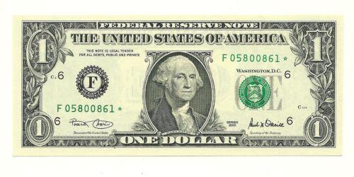 Gem Choice Uncirculated $1 2001 Covari//ONeill DC Star