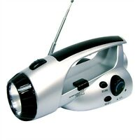 Emergency Preparedness Hand Crank Radio Flashlight 3 Led Dr1610 on sale