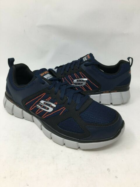Online Cheap men shoes Skechers Herren Sneaker NavyOrange