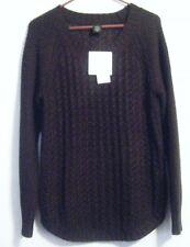 Calvin Klein Jeans Women's Textured Knit Crew Neck Sweater Black ...