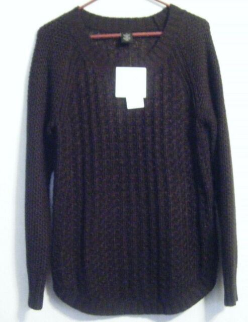 bc3342bc3a110 NEW Calvin Klein Jeans Women s Textured Knit Crew Neck Sweater Black Size  Small
