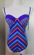 Gottex One Piece Swimsuit Size 8 Swim Suit Stripes Underwire Padded NWT New