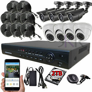 Sikker-8-Ch-High-Definition-AHD-1080P-DVR-2-Megapixel-Camera-Security-System-2TB