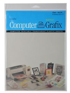 photo regarding Printable Transparency titled Info over Grafix Ink Jet Crystal clear Printable Motion picture 8.5\