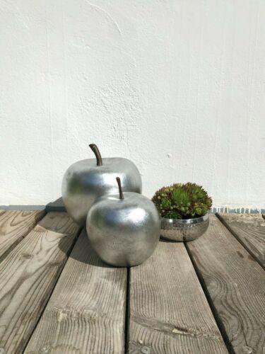 Deko-Apfel FRUIT-FUN Polystone Hochglänzend silber ø 16cm