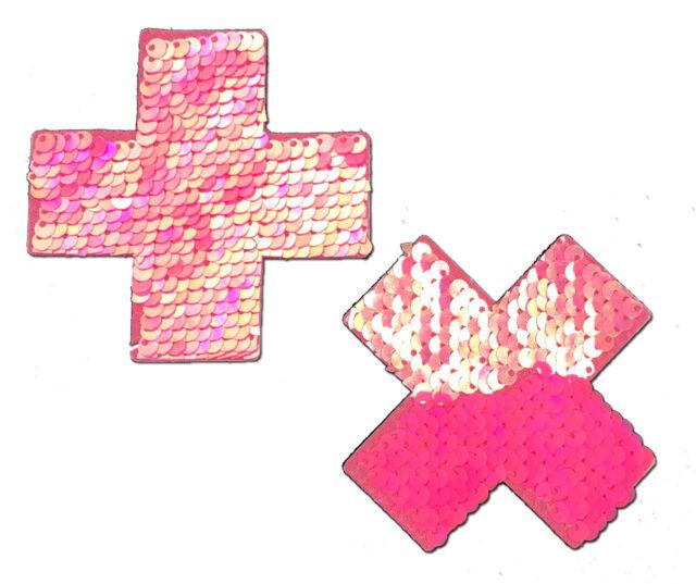 PASTEASE brand Pasties Trippy Triangle Glitter Pattern Nipple Pasties