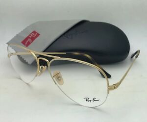 f5de14cac9 New RAY-BAN Eyeglasses RB 6589 2500 59-15 140 Aviator Semi Rimless ...