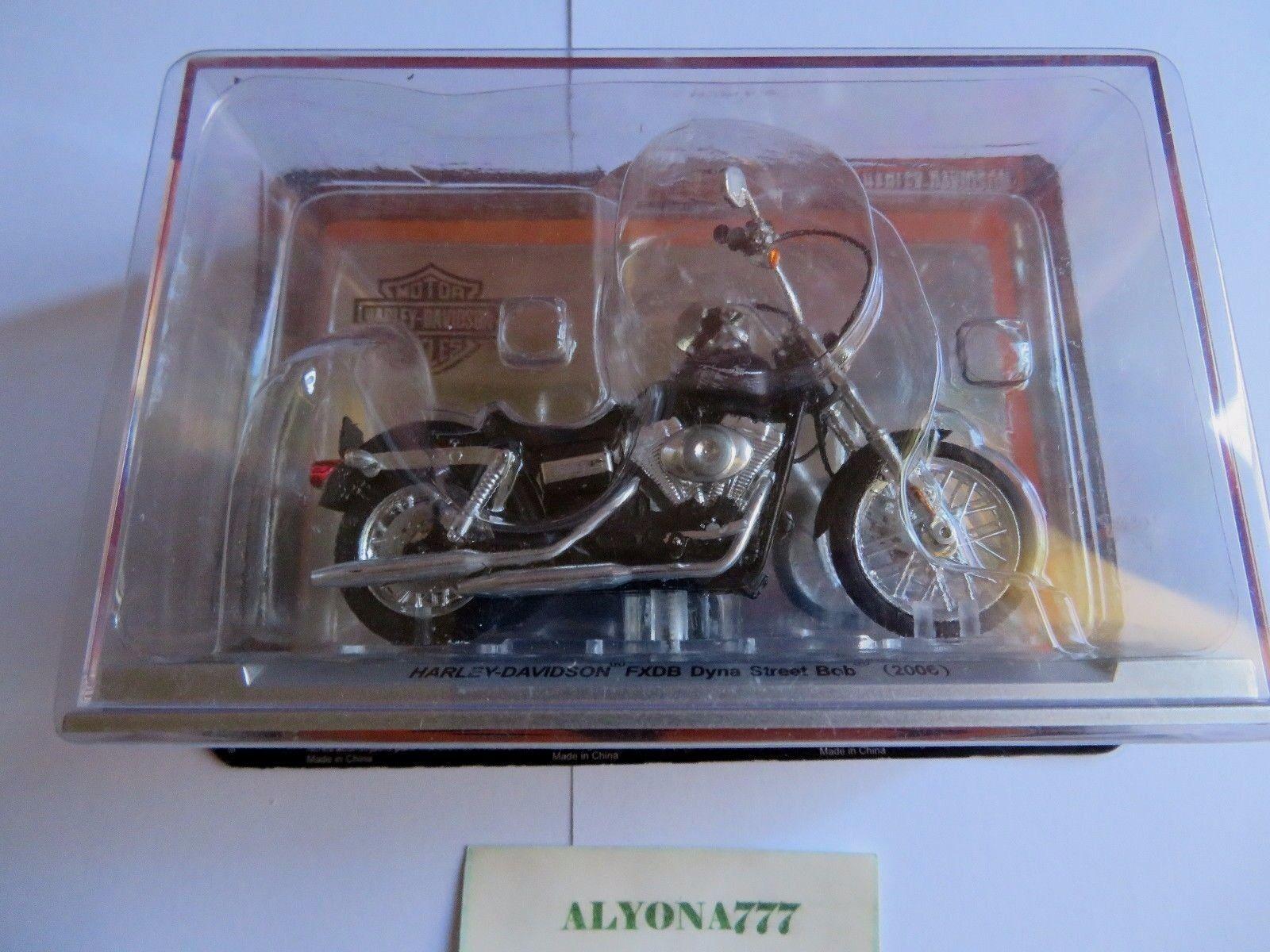 1 24 Altaya HARLEY DAVIDSON Dyna Street Bob 2006 Moto Bike Motorcycle SEALED