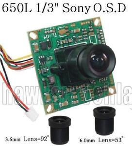 HD-650TVL-D-WDR-Color-CCTV-Camera-Board-1-3-034-SONY-CCD-OSD-3-6mm-amp-6-0mm-Lens