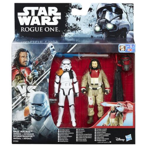 "STAR WARS ROGUE ONE 3.75/"" Baze malbus VS Imperial Stormtrooper FIGURE DA HASBRO"