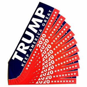 10Pcs-set-2020-Trump-for-USA-President-Keep-America-Great-Again-Bumper-Sticker