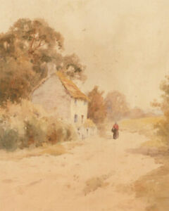 W-Hayes-Early-20th-Century-Watercolour-The-Country-Cottage