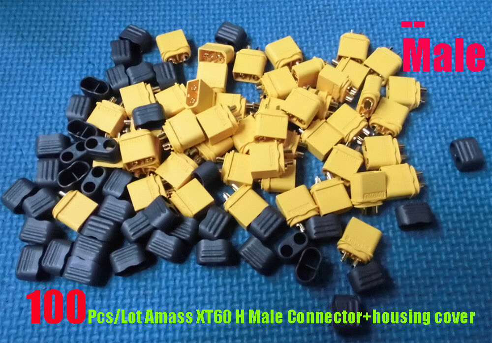 100Pairs Lot Best Amass XT60 H Connect Connect Connect Plug Cover Female male for RC Battery ESC ccdb9d