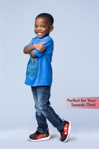 Toddler//Little Kid Disney Pixar Cars Lighted Toddler Boys Athletic Sneaker ,Red
