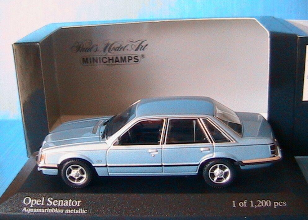 OPEL SENATOR A 3.0 E 1980 AQUAMARINbleu METALLIC MINICHAMPS 400045102 1 43 bleu