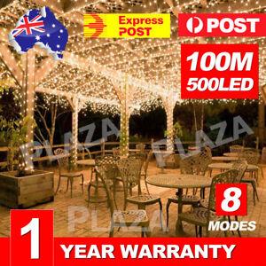 Warm-White-500LED-100M-Waterproof-Christmas-Fairy-String-Lights-Wedding-Garden
