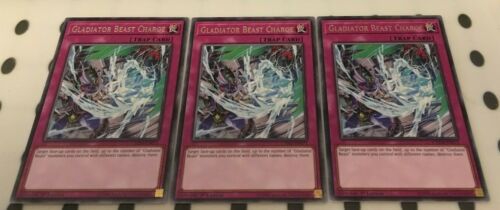 Gladiator Beast Charge Rare 3 x CHIM-EN071 1st Edition YuGiOh NEW