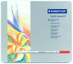Staedtler-Karat-Aquarell-Watercolour-Pencils-36-Colors-Water-Soluble-Lightfast