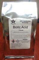 Boric Acid (orthoboric Acid, Boracic Acid) 1 Lb Pack 9962