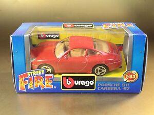 PL3-42-BBURAGO-BURAGO-1-43-STREET-FIRE-4178-PORSCHE-911-CARRERA-039-97-ROSSO-RED
