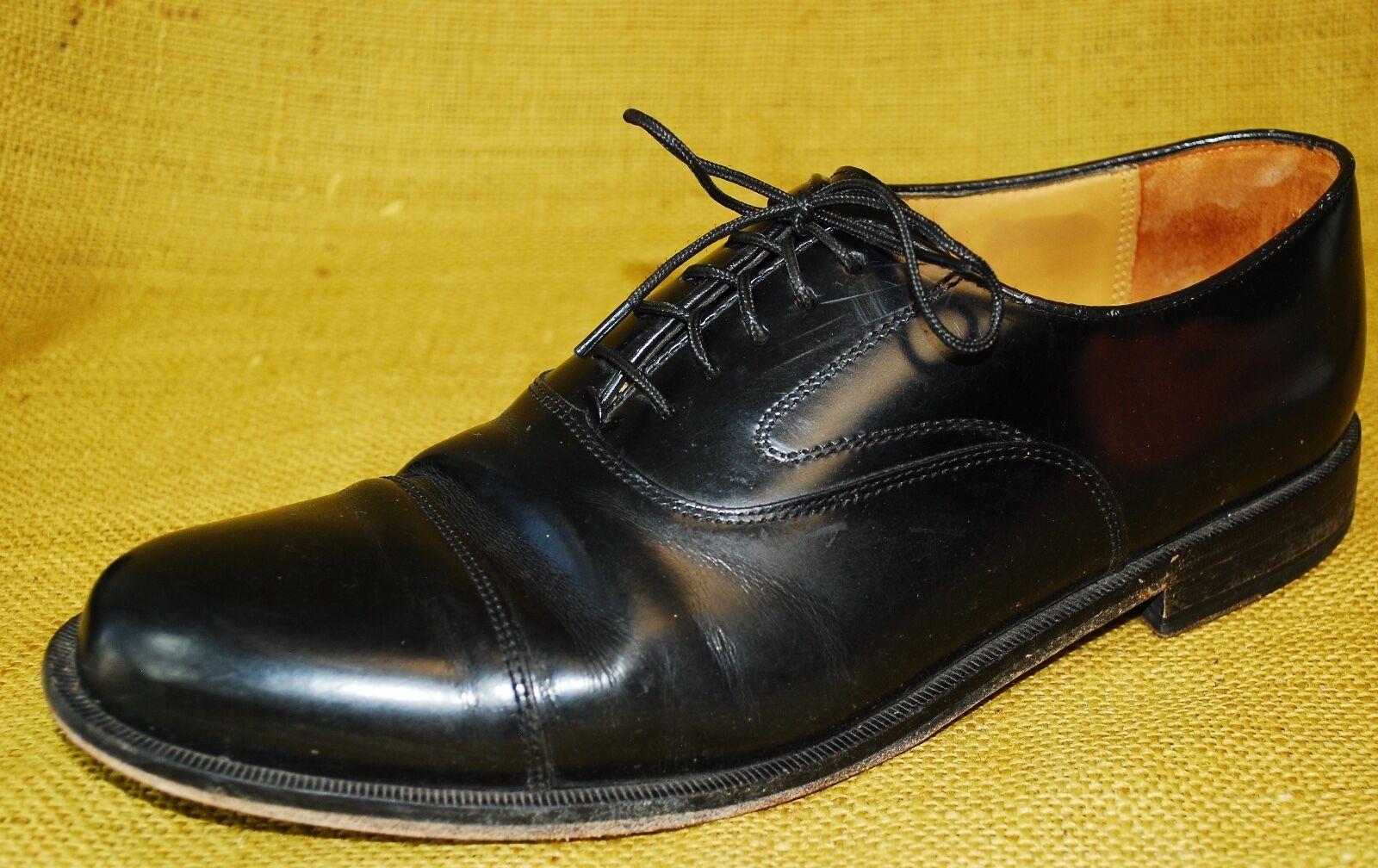 spedizione gratuita in tutto il mondo COLE HAAN HAAN HAAN nero Leather Cap Toe Oxford Dress scarpe Uomo 10.5 M Lace up  molto popolare
