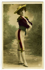 c 1909 French Theater Music Hall Cabaret DANCER JOLY in costume photo postcard