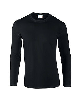 Gildan Softstyle  Men's Long Sleeve T–Shirt - Sizes S to XXL - Adult Tops