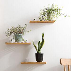 Wooden-Board-Storage-Rack-Wall-Mounted-Organizer-Hanging-Shelf-Home-Decor-LJ