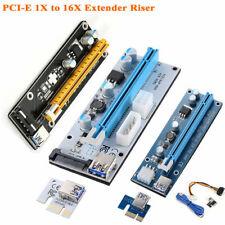 Mini PCI-E Express 1X to 16X Extender Riser Card Adapter for BTC Mining AC1327