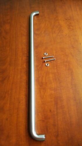"""New Stainless Steel Door Push 1/"""" Diameter x 32/"""" C to C  Thru Bolt Mounting"""