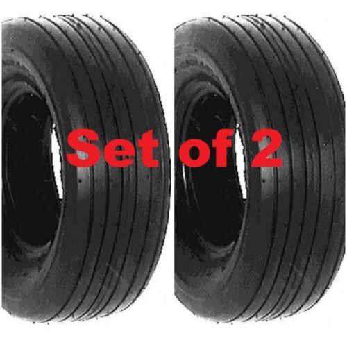 Pair of AIRLOC BRAND 15x6.00-6 Tires Lawn P508 SMOOTH RIB DESIGN 6 PLY 15x600-6