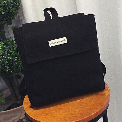 Fashion Women's Simple Square Satchel Backpack Rucksack Shoulder School Bookbags