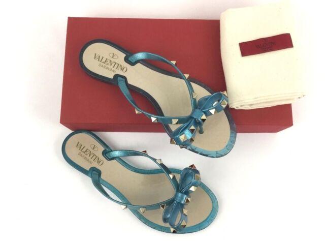 42cc6c1bc8dd valentino Garavani Rockstud PVC Thong Flip Flops Sandals US 7   EU ...