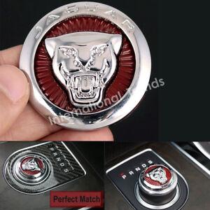 9d85c5f0 New 42mm Gear Shift Knob Shifter Center Emblem Cover for XJ XE XF F ...