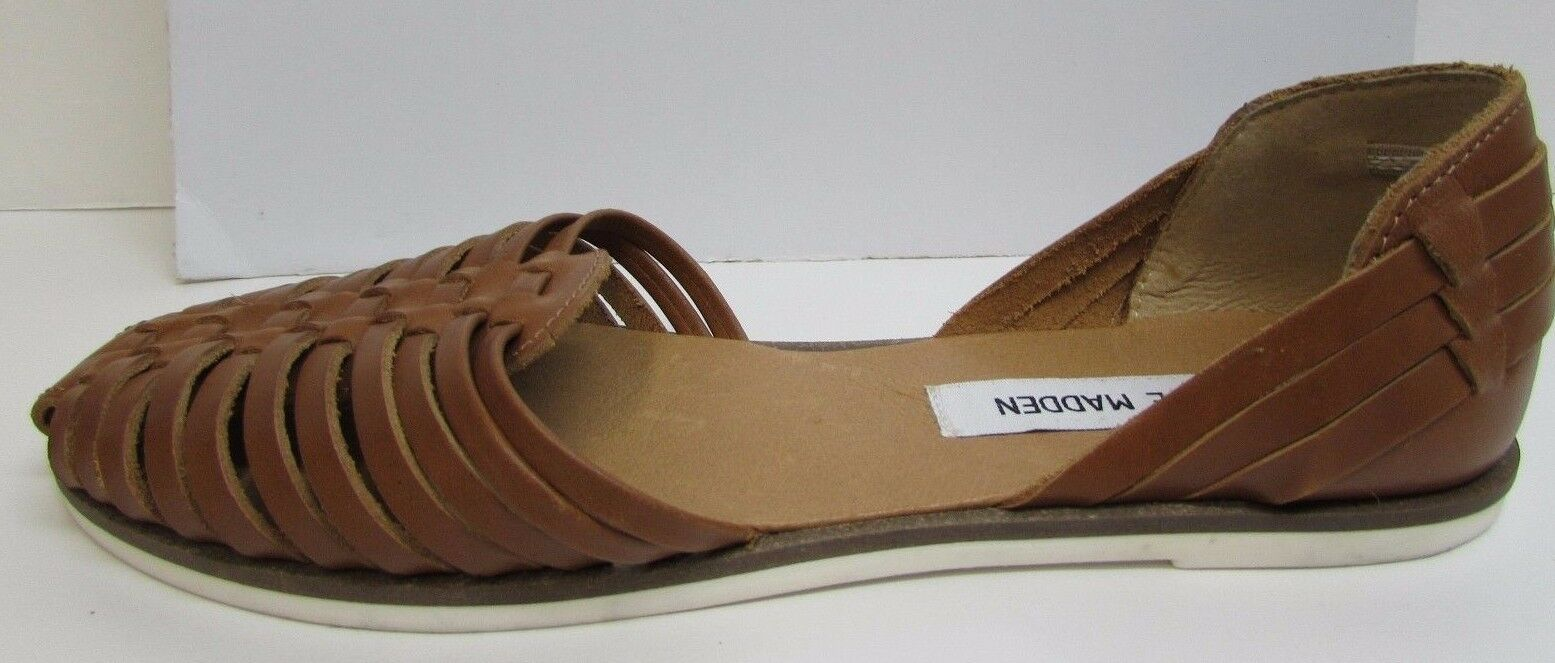 Steve Madden Taille 6 marron Leather Flats New femmes chaussures
