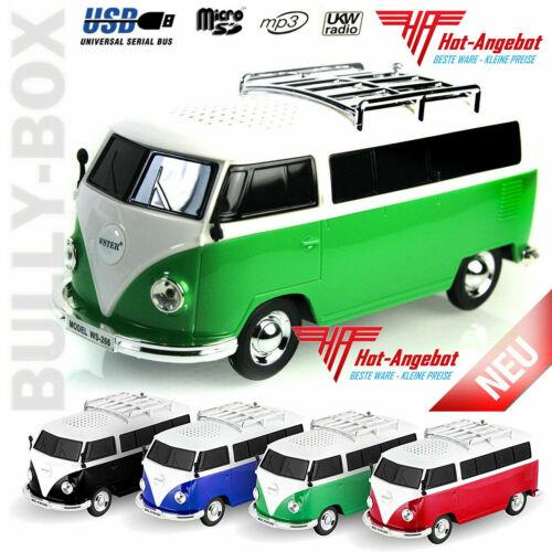 VW T1 Bulli Bluetooth Radio Player MP3 SD USB mit Akku Lautsprecher Box Speaker