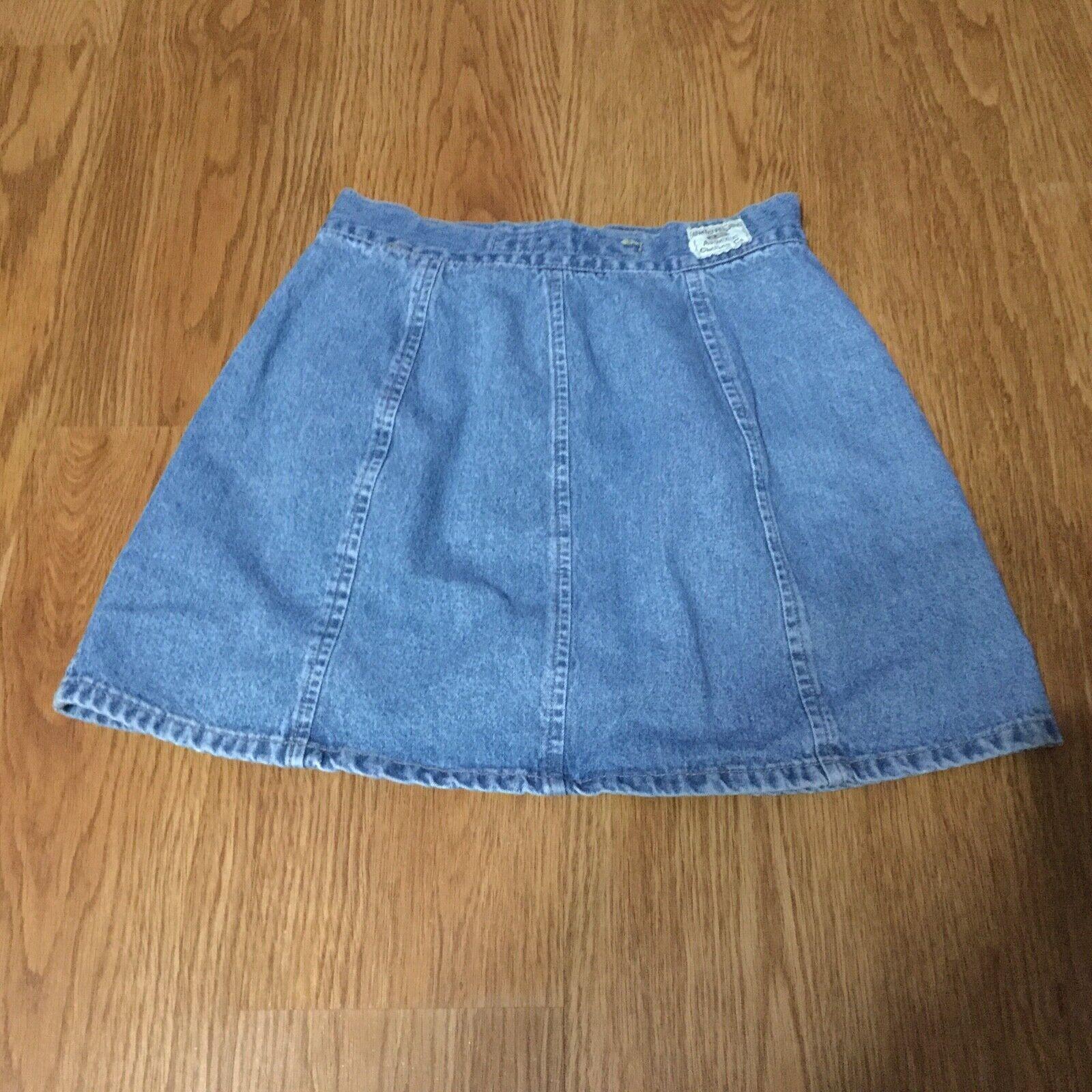 Vintage Unionbay Denim Mini Skirt Juniors Size 3 … - image 3