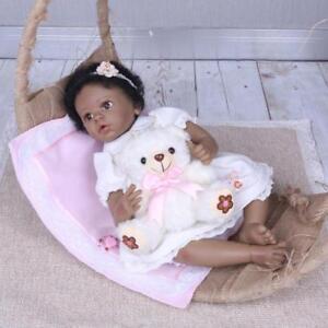 22-034-Reborn-Baby-Dolls-Black-Hair-Reborn-Biracial-Newborn-African-American-Girl