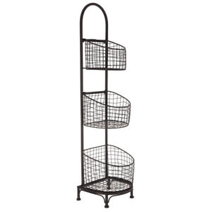 Image Is Loading Wire Storage Basket Shelving 3 Rack Bin Organizer