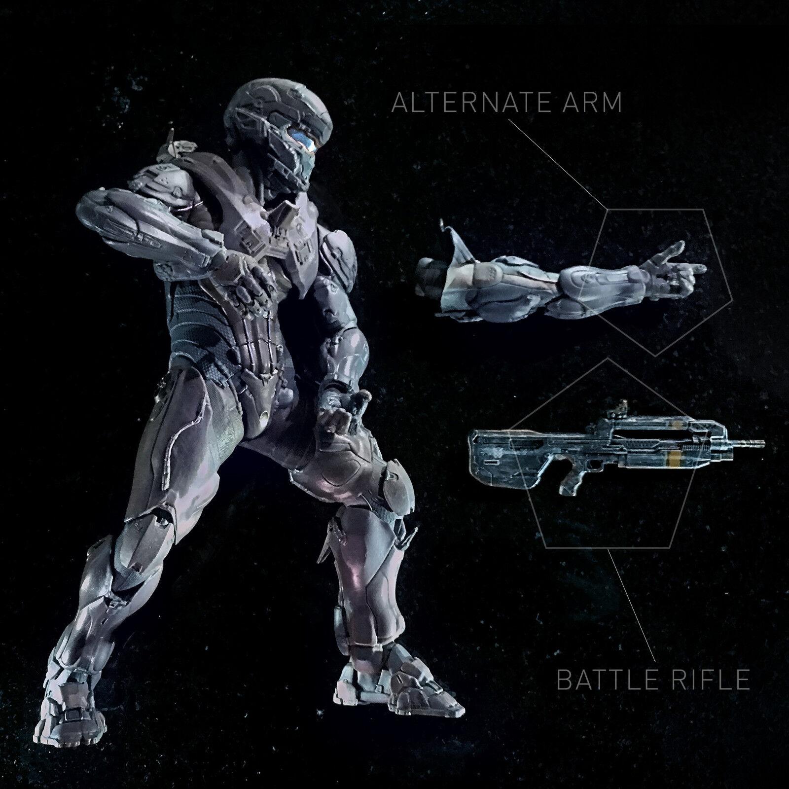 Mcfarlane Halo 5 Guardians Helmeted Spartano Locke  25CM Deluxe Personaggio